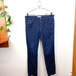 LOFT Dark Wash Modern Straight Leg Jeans 8